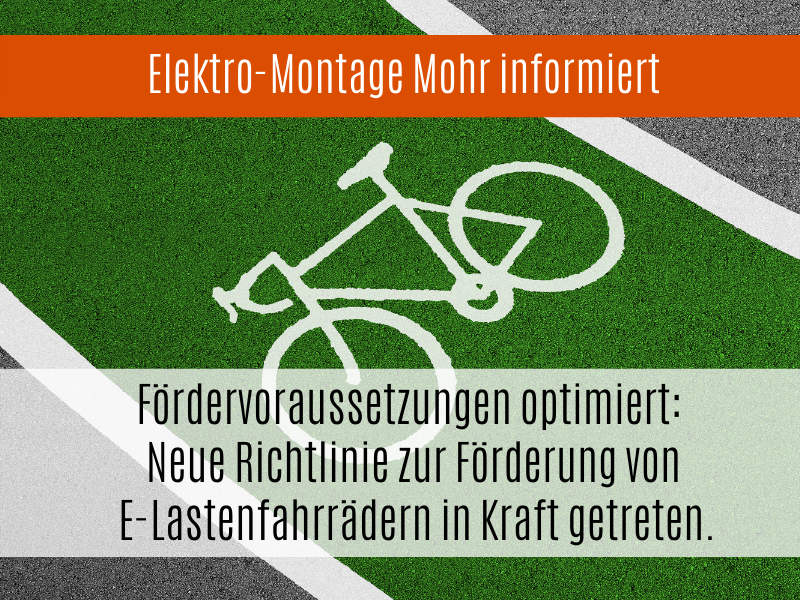 Fördervoraussetzungen Optimiert: Neue Richtlinie Zur Förderung Von E-Lastenfahrrädern In Kraft Getreten.